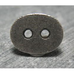 Bouton ovale quadrillé 12mm