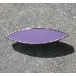Bouton métal argent lilas 30mm
