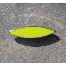 Bouton métal argent vert anis 30mm