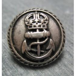 Bouton ancre queen vieil argent 20mm