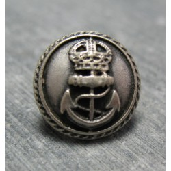 Bouton ancre queen vieil argent 15mm
