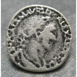 Bouton empereur vieil argent 22mm