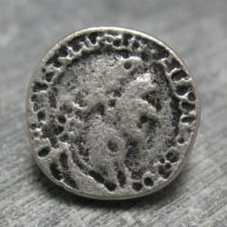 Bouton empereur vieil argent 15mm
