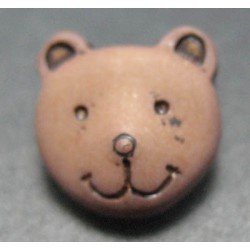 Bouton ours marron 11mm