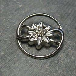 Bouton edelweiss 25mm