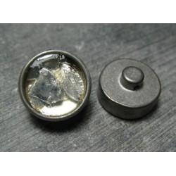 Bouton inclusion eclat de verre 16mm