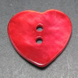 Nacre coeur rouge 20mm