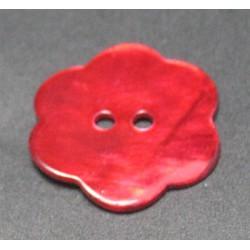 Nacre fleur rouge 22mm