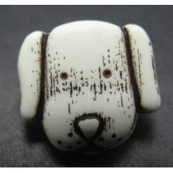 Bouton chien écru 12mm