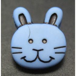 Bouton lapin bleu 13mm