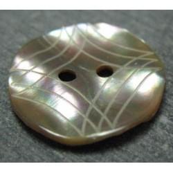 Bouton makasar losange laser 22mm