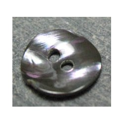 Bouton nacre acier 11mm