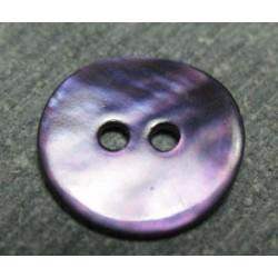 Bouton nacre violette 13mm