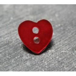 Nacre coeur rouge 11mm