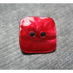 Nacre carré rouge 18mm
