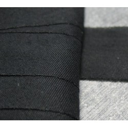 Biais plat noir 28 mm