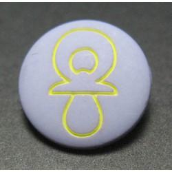 Bouton tétine lavande jaune 16mm