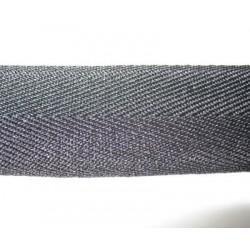 Chevron noir 25 mm