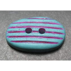 Bouton galet turquoise 20mm