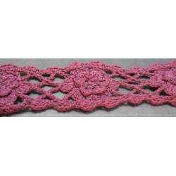 Macramé de coton prune 40 mm