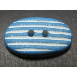 Bouton galet bleu 25mm