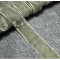 Panne de velours vieillie amande 9 mm