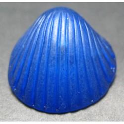 Bouton coquillage bleu  27mm