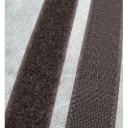 Velcro marron à coudre