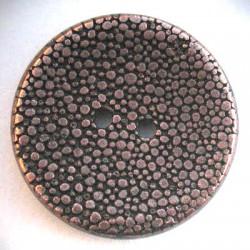 Bouton pixel vieux cuivre 25mm