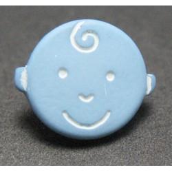 Bouton houpette bleu 11mm