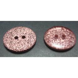 Bouton paillette cuivre ovale 20mm