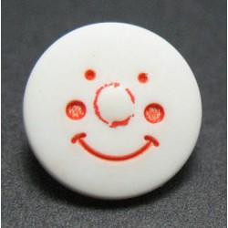 Bouton smile blanc 12 mm