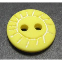 Bouton soleil jaune 12mm