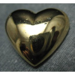 Bouton coeur or 34mm