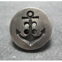 Bouton ancre vieil argent 23mm