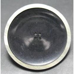 Bouton noir cercle nacré 45mm