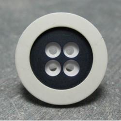 Bouton blanc bleu 23mm