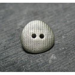 Bouton quadrille gris amande 15mm