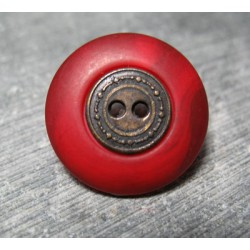 Bouton pneu rouge orange 23mm