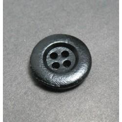 Bouton cuir noir 4t 15mm