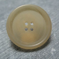 Bouton corne beige 28mm