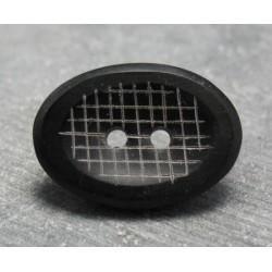 Bouton corne ovale grillage 30mm