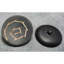 Bouton corne or 40mm