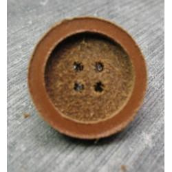 Bouton cuir pastille 18mm
