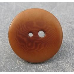 Bouton corozo grand petit trou caramel 30mm