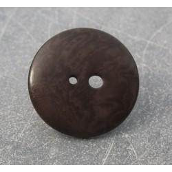 Bouton corozo grand petit trou marron 30mm