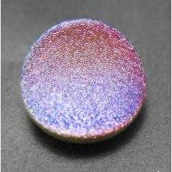 Bouton verre creusé  piqueté 19mm