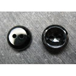 Bouton verre noir mini facette 11mm