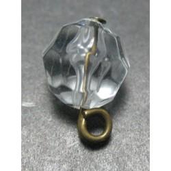 Perle résine biseautée 11mm