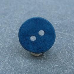 Bouton céramique bleu 18mm